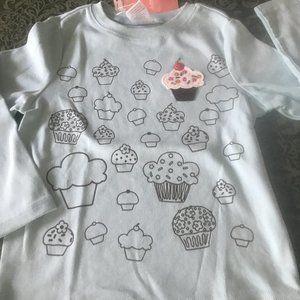NWT gymboree cupcake cutie 4 shirt top birthdays
